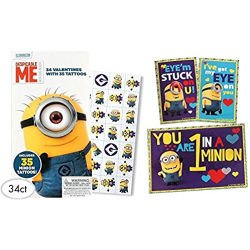 Despicable Me2 34 Valentines with 35 Tattoos Sales