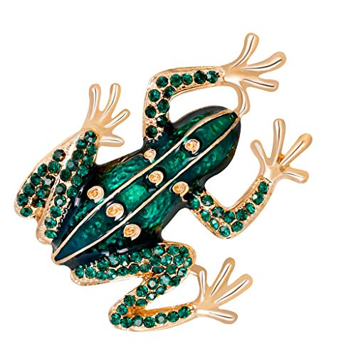 (Fashion Bling Crystal Lovely Charm Animal Brooch Pin Animal Fruit Shaped (Color - Frog Shape))