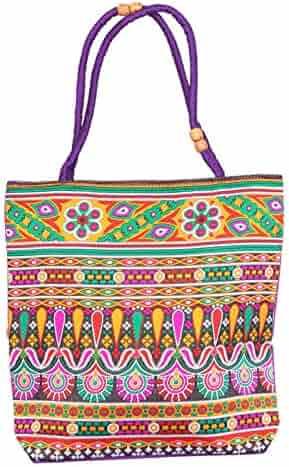 f74adbdeee76 Craft Place Wholesale 10 pc bulk lot Embroidered Design Cotton Wedding Bag  Jaipuri Pouch Women