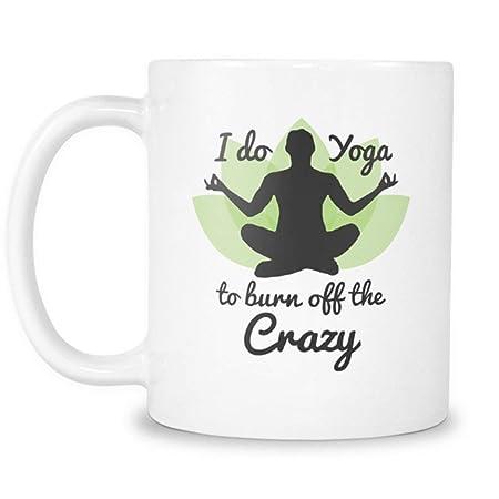 Yoga Burn Off Crazy por 2685mi - Taza de yoga - Taza de café ...
