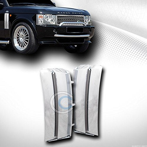 HS Power Chrome Mesh Front Side Fender Vent Grill Grille Cover 2003-2012 for Full Size Range Rover L322