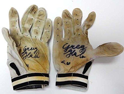 """Greg Halman Autographed Game Used Franklin Batting Gloves""""G.U."""" R73929 & PSA/DNA Certified MLB Game Used Gloves"""