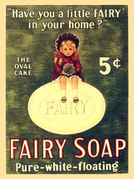 Fairy Soap Metal Sign: Soap, Laundry, and Bathroom Decor Wall Accent
