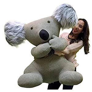 American Made Giant Stuffed Koala Huge Big More Than 3 Feet Tall and Very Wide Huge Soft Plush Animal Made in the USA America - 51e3ciPeoaL - American Made Giant Stuffed Koala Huge Big More Than 3 Feet Tall and Very Wide Huge Soft Plush Animal Made in the USA America