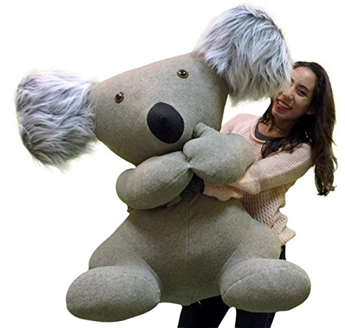 Big stuffed animals for Valentine's Day - American Made Giant Stuffed Koala Huge Big More Than 3 Feet Tall and Very Wide Huge Soft Plush Animal Made in the USA America
