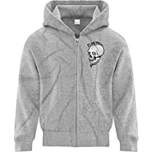 BSW Youth Boys I Live Inside Your Face Skull Zip Hoodie