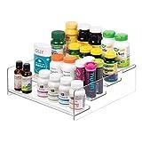mDesign Plastic Bathroom Storage Organizer Shelf