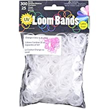 UV Loom Bands 300/Pkg W/25 Clasps-Pink