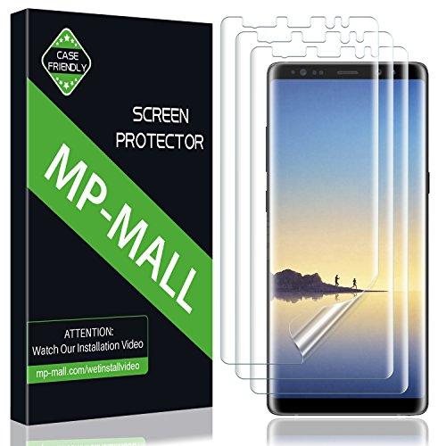 [3-Pack] MP-MALL for Samsung Galaxy Note 8 Screen Protector, Liquid Skin Screen Protector Case Friendly Bubble Free HD Clear Flexible Film, Lifetime Replacement Warranty -