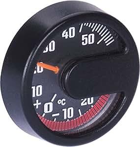 Termómetro de interior redondo, color negro
