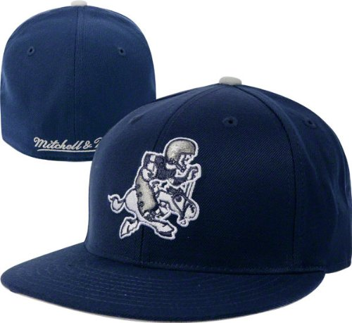 Image Unavailable. Image not available for. Color  Mitchell   Ness Dallas  Cowboys Throwback Fitted Hat 0ffde42f2