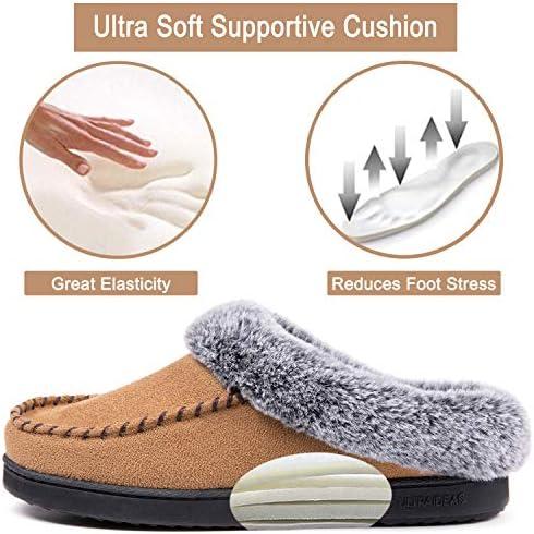 Suede Memory Foam Slippers