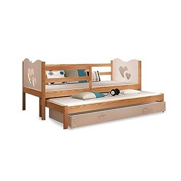 Einzelbett kinder  Kinder Bett Einzelbett 2 in 1 Kinderbett Bettkasten 2 Personen ...