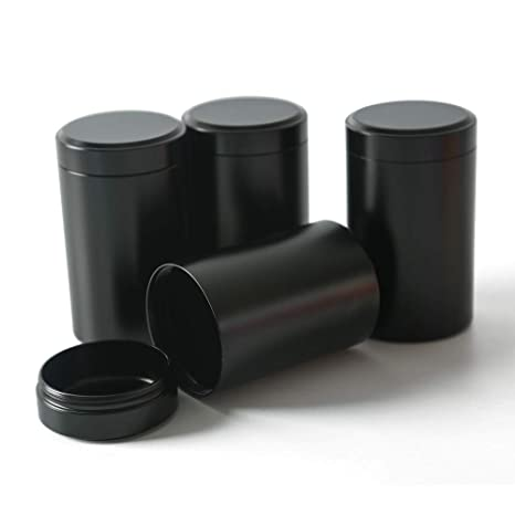 Delicieux Amazon.com: Tea Tins Canister Set With Airtight Lids Home Kitchen Canisters  For Tea Coffee Sugar Storage Loose Leaf Tea Tin Containers Storage(Black  4PC ...