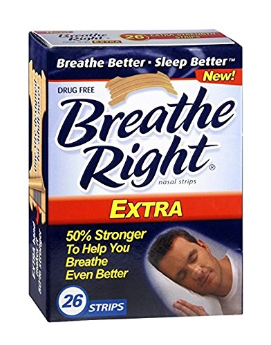 Breathe Right Nasal Strips Extra 26 Count per Box (12 Pack) by Breathe Right