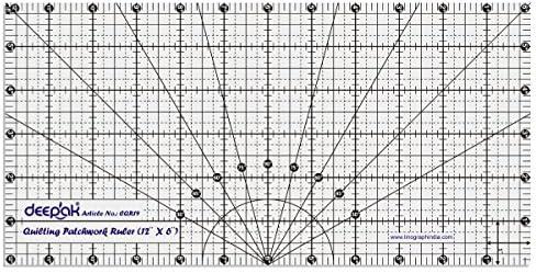LINOGRAPH Forme rectangulaire Quilt Design et Artisanat Quilting Patchwork Ruler Mod/èle 12 x 6 Pouces