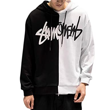 TeemorShop Men Hoodies Thick Pullover Sweatshirt Hip Hop Rapper Loose Streetwear at Amazon Mens Clothing store: