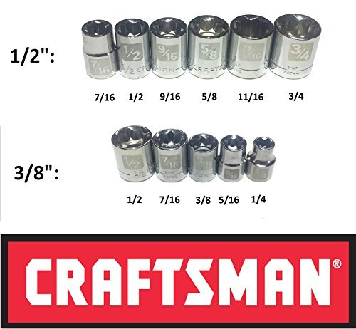 (Craftsman Easy Read 11 Pc SAE Standard 3/8