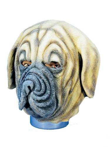 HMS Dog Realistic Animal Mask, Brown, One Size (Realistic Masks For Sale)