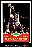 1973 Topps # 202 ABA West Semi-Finals Indiana / Denver Pacers / Rockets (Nuggets) (Basketball Card) Dean's Cards 3 - VG Pacers / Rockets (Nuggets)