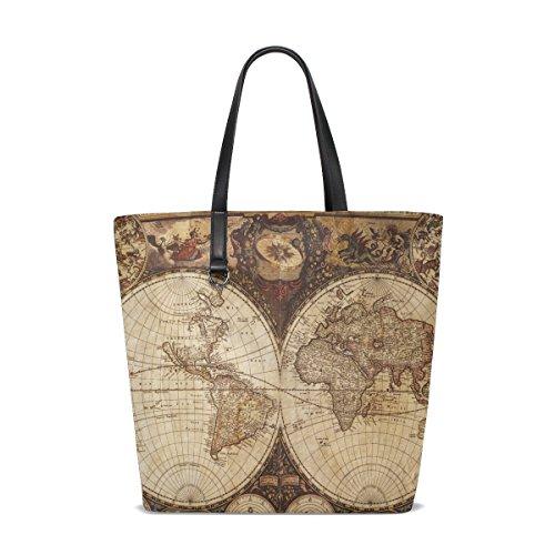 old world map bag - 4