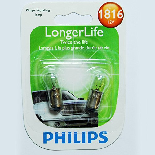 Philips 1816 LongerLife Miniature Bulb, 2 Pack (1816 Miniature)
