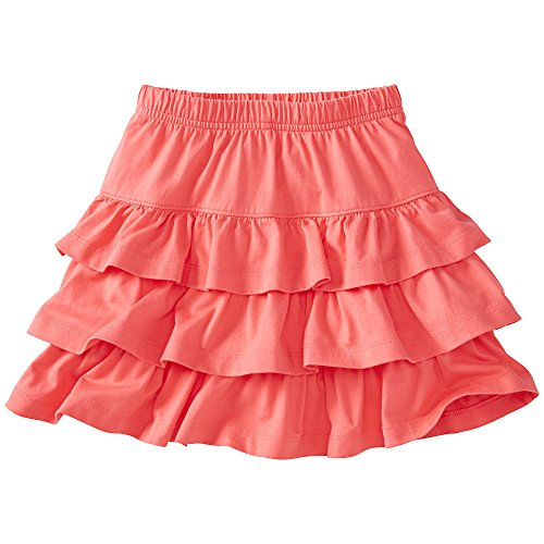 Hanna Andersson Little Girl Three Tiers Scooter Skirt, Size 110 (5), Melon