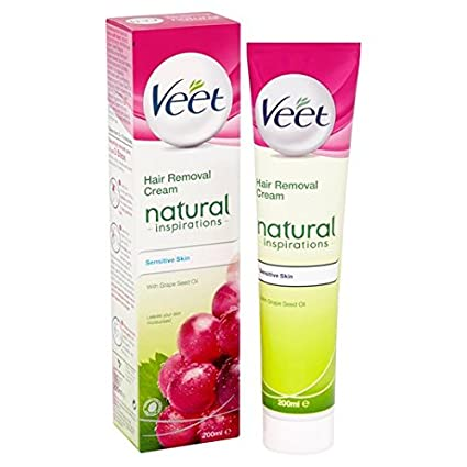 Crema depilatoria Veet inspiraciones natural del cabello 200ml sensible