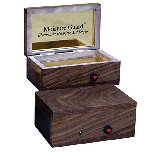 Moisture Guard Electronic Hearing Aid Dryer - American Black Walnut by HearMore