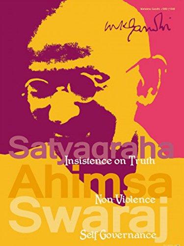 Posters: Mahatma Gandhi Poster Art Print - Satyagraha, Insistence On Truth