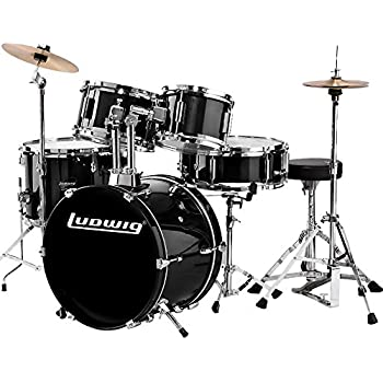 ludwig lc178x016 questlove pocket kit 4 piece drum set black sparkle finish musical. Black Bedroom Furniture Sets. Home Design Ideas