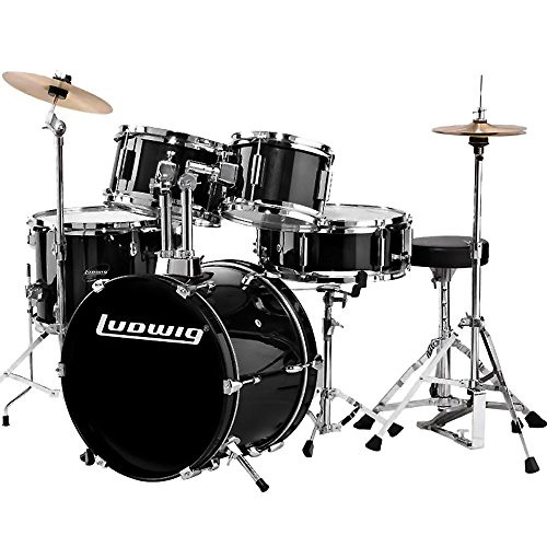 Ludwig Junior Outfit Drum Set Black (Professional Drum Set)