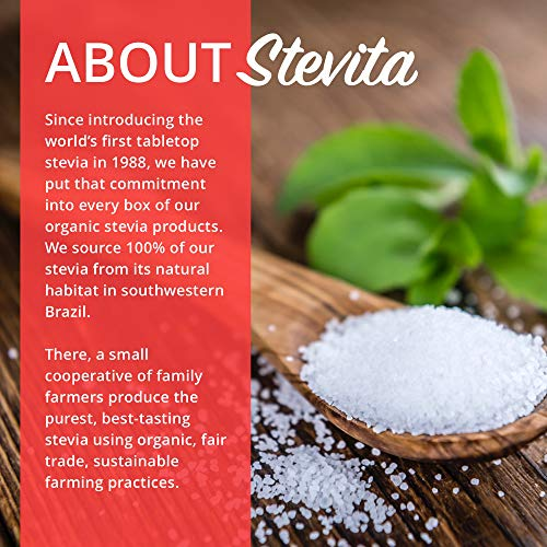Stevita Stevia Organic Spoonable Stevia Powder - 50 Packets - Stevia & Erythritol All Natural Sweetener, No Calories - USDA Organic, Non GMO, Vegan, Keto, Paleo, Gluten-Free - 50 Servings by STEVITA (Image #4)