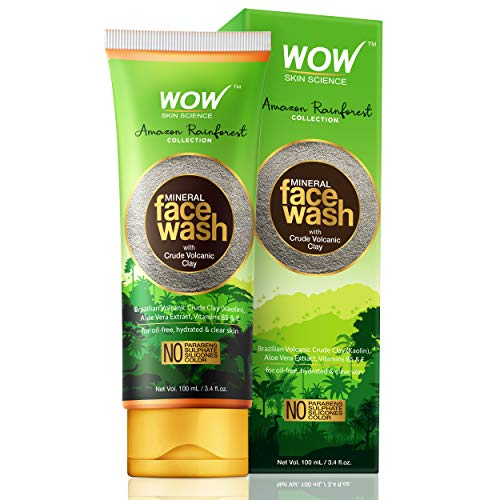 WOW Skin Science Amazon Rainforest Collection Mineral Face Wash with Crude Volcanic Clay 100mL TUBE