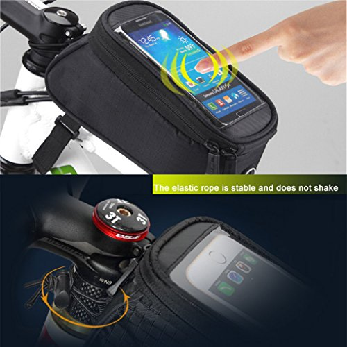 Bicycle Bags Under Seat,Upgraded Version Upscale Waterproof Large Capacity Bike Bag,With Warning Lights(No Kettle)