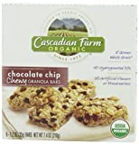 Cascadian Farm Organic Chewy Granola Bar, Chocolate Chip, 6-Count Boxes (Pack of 6) [Hot Sale] by Cascadian Farm