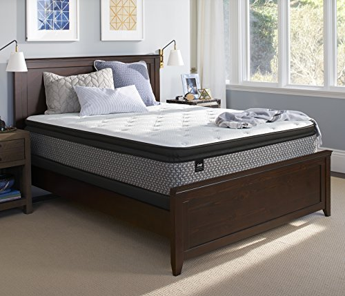 Sealy Response Essentials 13-Inch Plush Euro Pillow Top Mattress, Queen, Made in USA, 10 Year Warranty