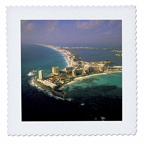 3drose-qs-86861-1-mexico-quintana-roo-cancun-aerial-sa13-wbi0691-walter-bibikow-quilt-square-10-by-1