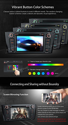 XTRONS Android 6.0 Octa-Core 64Bit 7 Inch Capacitive Touch Screen Car Stereo Radio DVD Player GPS CANbus Screen Mirroring Function OBD2 Tire Pressure Monitoring for BMW 1 Series E81 E82 E88 by XTRONS (Image #6)