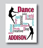 Personalized Dance Gifts For Girls, Dance Gifts For Teen Girls, 8x10 or 11x14 Dance Print Only, Dance Decor For Girls Room