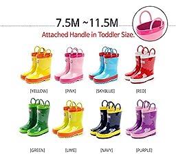 Ozkiz Unisex-child Real Rubber 802 Rain Boots (1.5M US Little Kid, Sky)