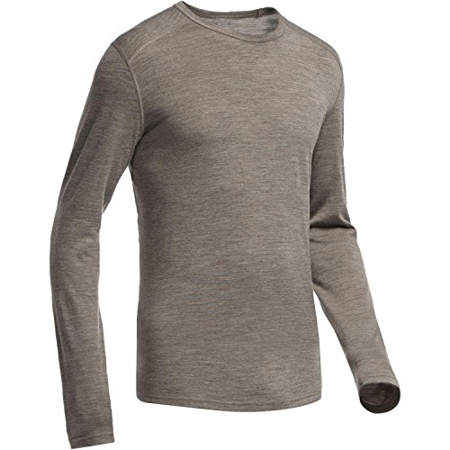Icebreaker Merino Men's Oasis Long Sleeve Crewe, Trail Heather, XX-large
