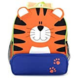 Cute Fun Children's Character Backpack, Delightful Colors, Durable Construction, Rugged 600D Canvas Won't Rip. Choose From 5 Popular Characters: Ladybug, Butterfly, Monkey, Dog & Tiger