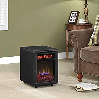 Duraflame 10IF9239BLK Portable Electric Infrared Quartz Heater, Black