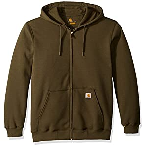 Carhartt Men's Midweight Zip Front Hooded Sweatshirt K122