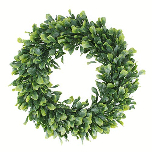 Geboor Faux Boxwood Wreath, 15