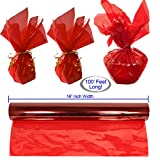 Cellophane Wrap Roll Red   100' Ft. Long X