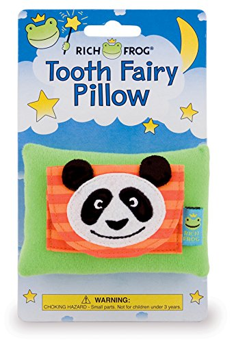 Rich Frog Panda Tooth Fairy Pillow and Tooth Keepsake, Multicolored - 4