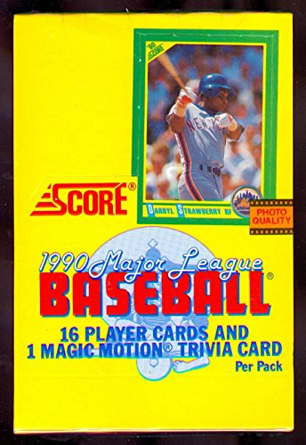 1990 Score Baseball Card Wax Pack Box FACTORY SEALED Frank Thomas Sammy (Baseball Unopened Wax)