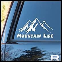 Mountain Life Vinyl Decal | Nature Calls Adventure Awaits Mountain Life Outdoors Mirror Motivation | Cars Trucks Vans Laptops Cups Tumblers Mugs | Made in the USA